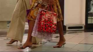 Women shopping with bags