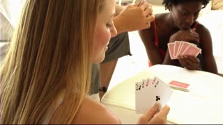 Young People - Playing cards