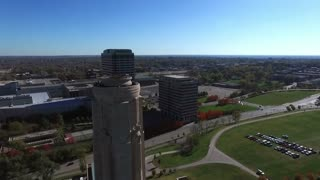 aerial 360 view of downtown Kansas City