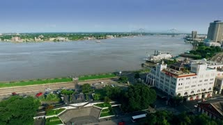 aerial view from jackson square to mississippi river