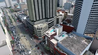 aerial view of Canal Street intersection in New Orleans
