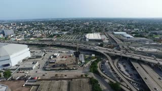 Aerial view of the pontchartrain expressway in New Orleans Louisiana