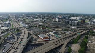 Aerial view of the pontchartrain expressway looking towards lakeview in New Orleans Louisiana