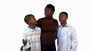 African American mom with kids