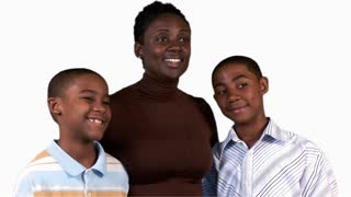 African American woman with her kids