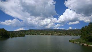 beautiful day at the lake.