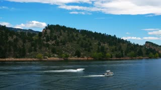 boating on Horsetooth Reservoir Colorado 4k