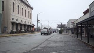 Brenham Texas January 1 2017 Establishing Shot Of A Typical Downtown Of A Small Texas Town 4 K