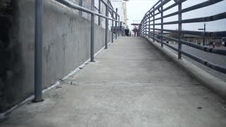Brenham Texas January 1 2017 Walking Day Shot Of A Wheelchair Access Ramp 4 K