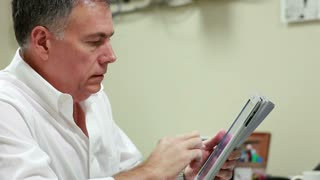 Business man working with tablet PC