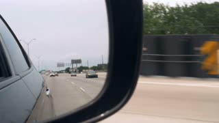 camera view from side mirror slow motion