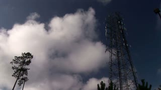 cell tower and clouds