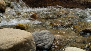 closeup mountain stream