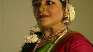 closeup of an Indian dancer.