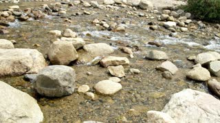 cold mountain stream.