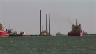 crew boats in Galveston bay