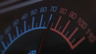 DB or VU meter measuring sound