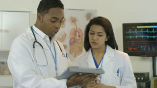 Doctor checks her paitent