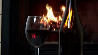 dolly wine fireplace