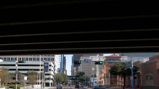 driving into downtown Houston Texas