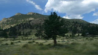 driving into Rocky Mountain National Park.