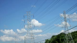 driving next to large powerlines