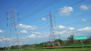 Driving next to powerlines