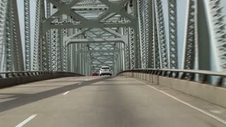 driving over bridge