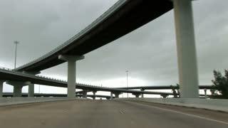 driving through cloverleaf