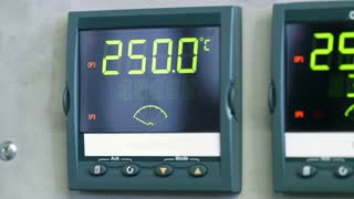 electronic display in a laboratory.
