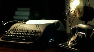 film noir typewriter 4k