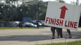 finish line at a race
