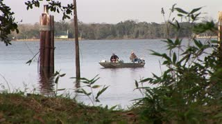 fisherman in a south Louisiana lake