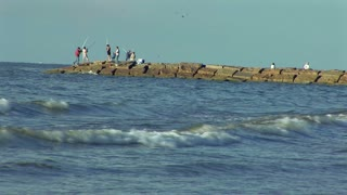 fishing jetty on Galveston Island