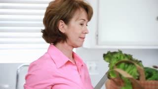 follow woman fresh produce