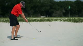golfer in the sand trap