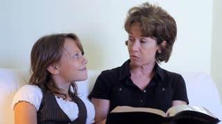 grandmom and granddaughter bible study