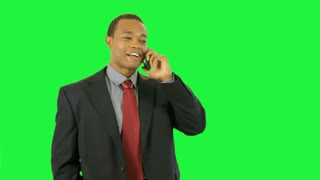 green screen businessman walks off camera