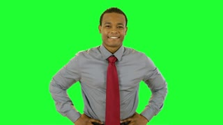 green screen confident businessman.