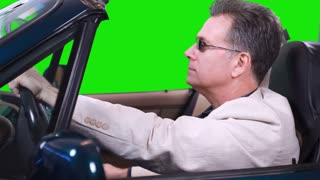 green screen driving and texting