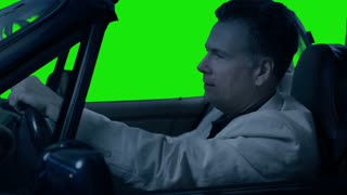 green screen driving at night