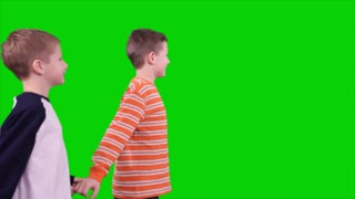 green screen welcoming soldier daddy home