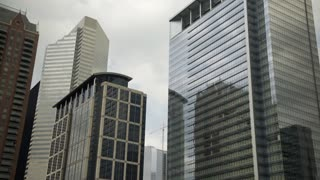 highrise buildings in downtown Houston Texas 4k