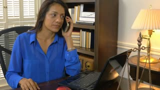 hispanic woman ceo on the cell phone 4k