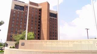 Kansas City, KS -  June 18 2016 VFW national headquarters side view 4k