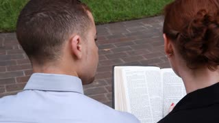 looking over their shoulder bible
