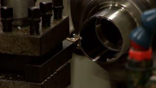 metal lathe closeup