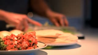 mexican dinner being prepared