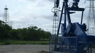 oil pumpjack in Texas