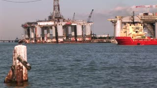oil rig crew boat in galveston bay